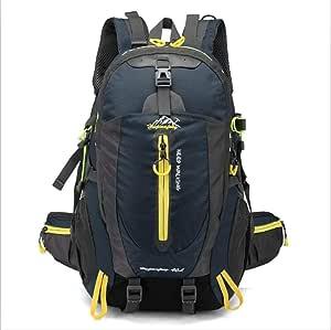 STBB Mountaineering Backpack 40L Waterproof Climbing Bag Travel Backpack Bike Bicycle Bag Camping Hike Laptop Daypack Rucksack Outdoor Men Women Sport Bags 30-40L Navy Blue