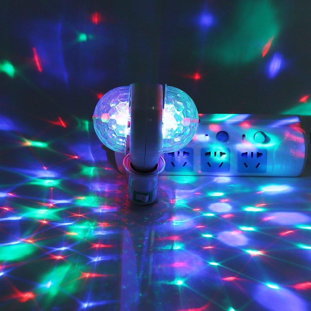 Acogedor Luz de Escenario E27 RGB LED Disco Escenario Luces Lá mpara Pelota Lluminació n DJ Fiesta Discoteca Bar de Dicoteca(Especifizació n EE.UU.)