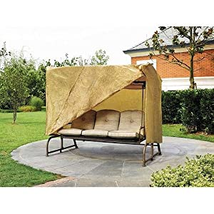 Outdoor 3 Triple Seater Hammock Swing Glider Canopy Cover All Weather Protection 87 in w x64 in d x66 in h