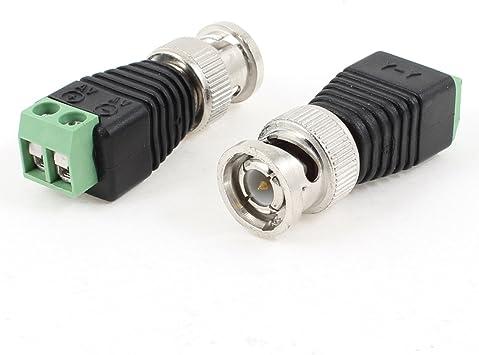 Sourcingmap® 2 x CAT5 para Cable coaxial BNC CCTV para Cámaras TV ...