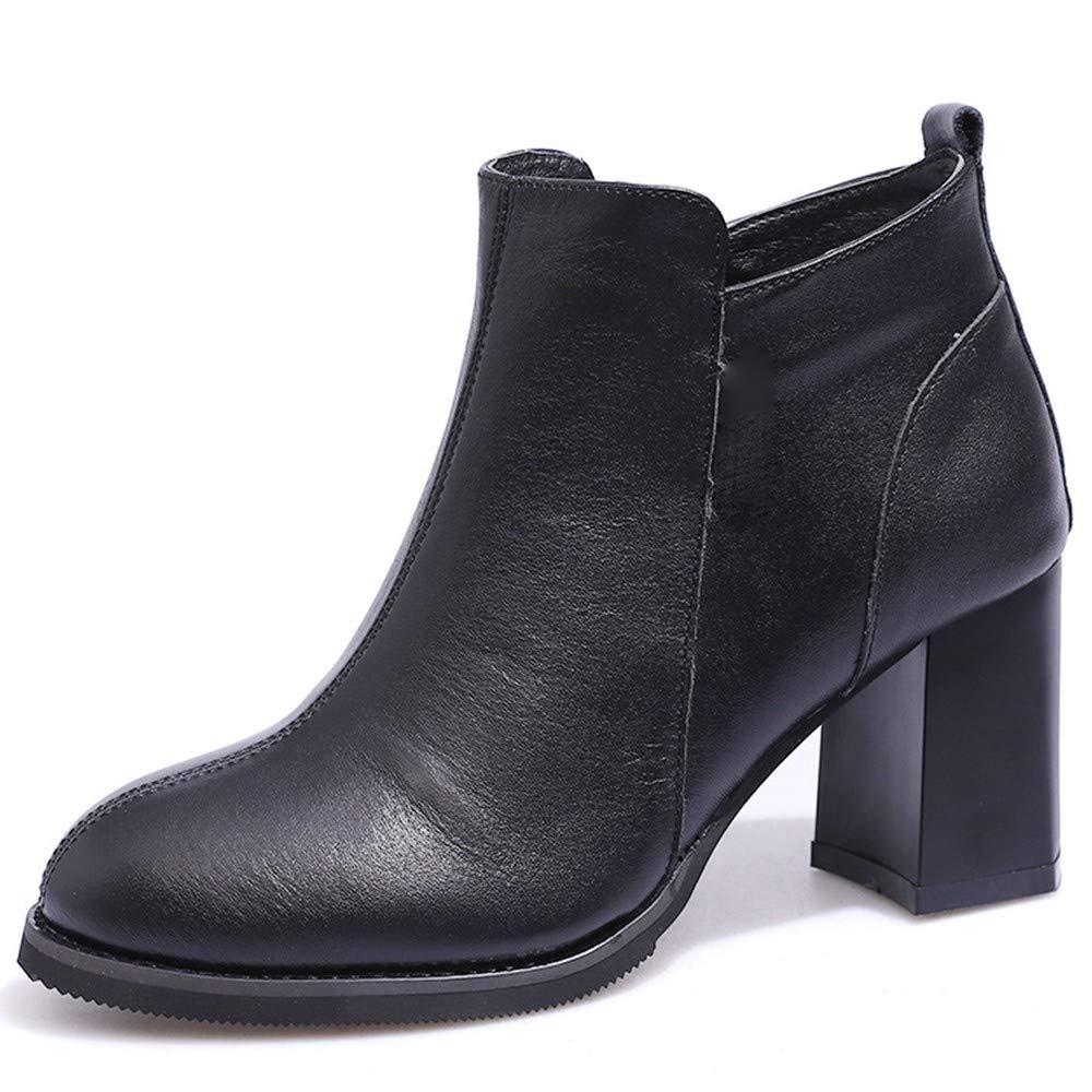 KIJH Martin Stiefel Damenstiefel Handgefertigte Stiefel Damen Flachen Boden Kurze Röhre Und Weicher Boden.