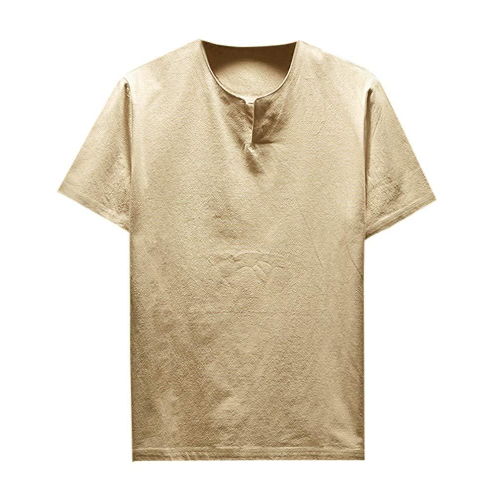 Maglia alla Moda Camicia Elegante Slim Fit Uomo Estiva