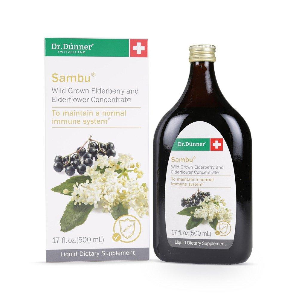 Dr.Dünner Sambu Elderberry Syrup with Elderflower, 16.9-Ounces