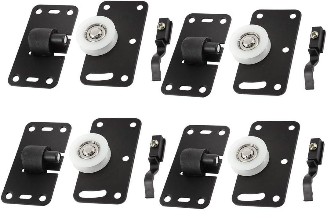 Set de ruedas para puerta corredera de armario de 4 unidades, rueda de 30 mm de diámetro de color blanco: Amazon.es: Grandes electrodomésticos