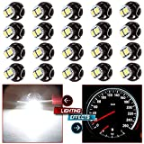 CCIYU 20 Pack White T4/T4.2 Neo Wedge 3LED A/C Climate Control Light Indicator Bulbs