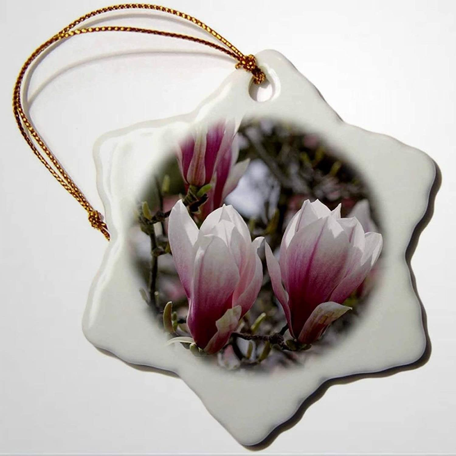 BYRON HOYLE Magnolia Lili Flora Blooms in Boise Idaho Snowflake Ornament Porcelain Christmas Ornaments Pandemic Xmas Decor Wedding Ornament Holiday Present