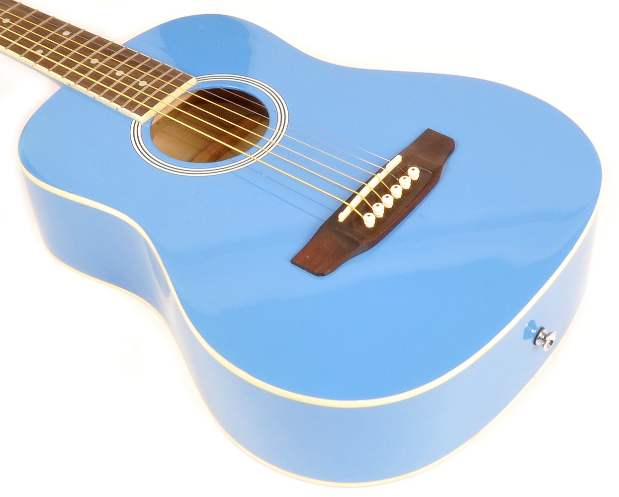 SX RSM 1 34 BBU 3/4 Size Bubblegum Blue Acoustic Guitar Package, Black with Carry Bag, Strap, and Guitar Picks Included by SX (Image #4)