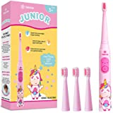 Vekkia Sonic Rechargeable Kids Electric Toothbrush, 3 Modes With Memory, Fun & Easy Cleaning, 31000 Strokes, IPX7…