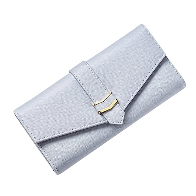 be94d38fee3 Zhhlinyuan High Capacity Long Wallet Ladies Purse Three Fold Hand ...