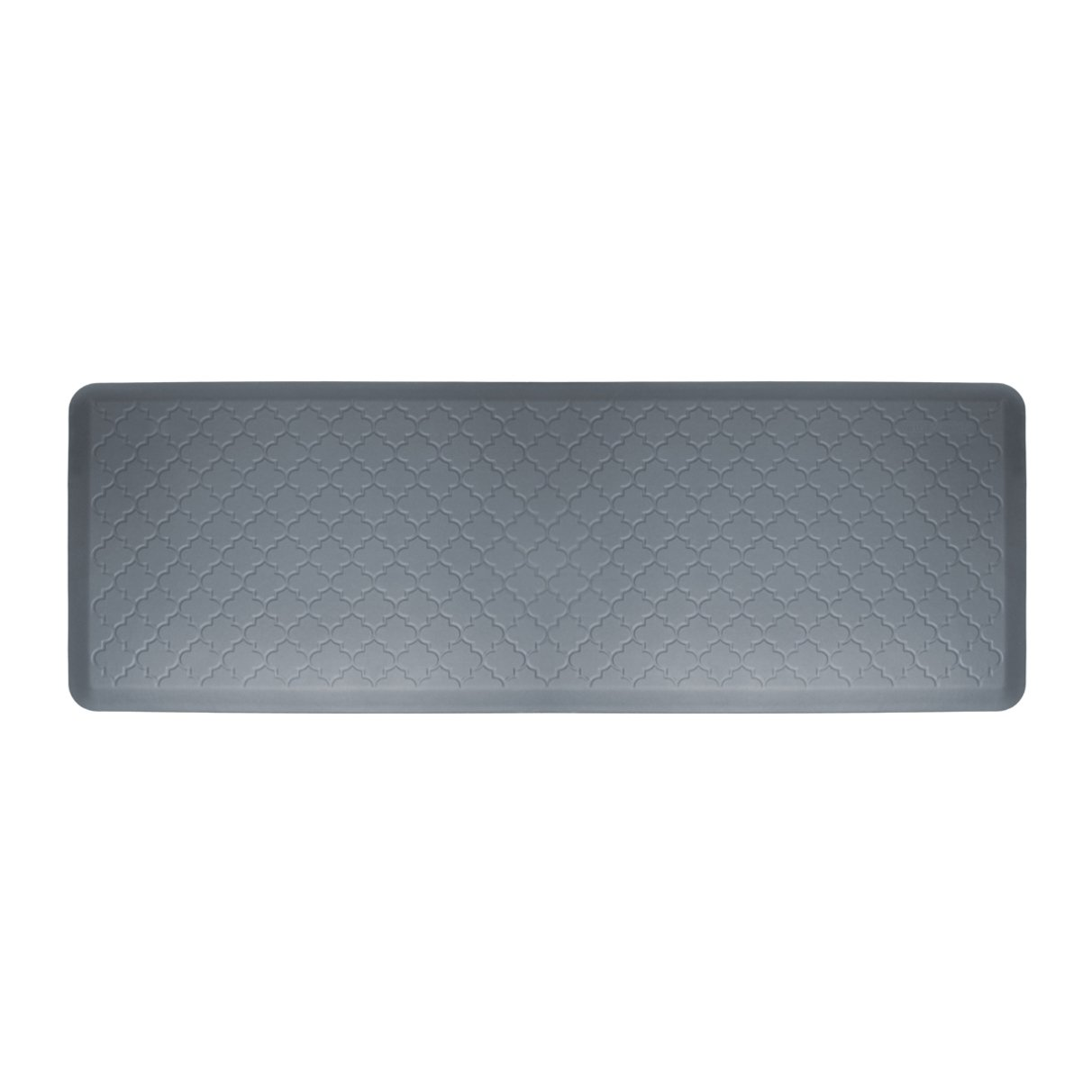 WellnessMats Anti-Fatigue Trellis Motif Kitchen Mat, 72 Inch by 24 Inch, Grey