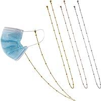 TOYMIS 3 piezas Máscara Soporte, Cadena Collar Metal Anteojos Soporte máscara Correa Extensor Cadena (Oro, Rosa, Plata)