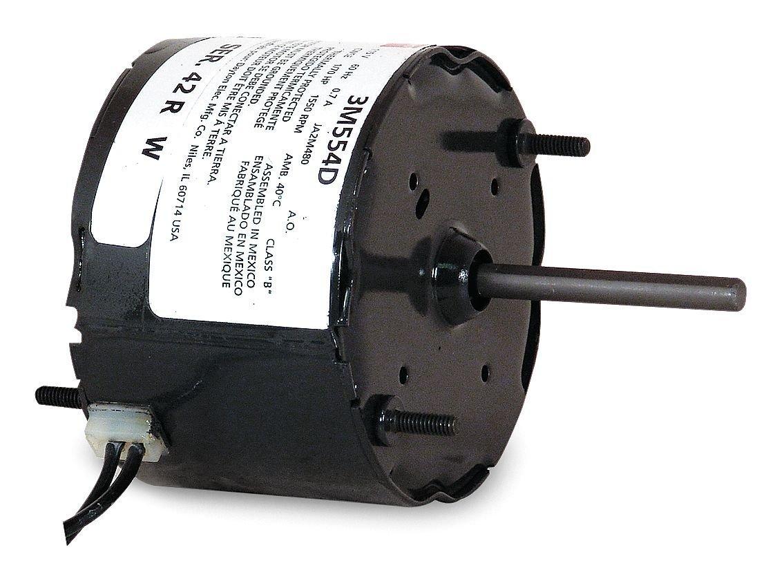 Dayton 4M199 HVAC Motor, 1/30 hp, 1550 RPM, 115V