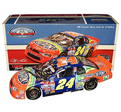 AUTOGRAPHED 1998 Jeff Gordon #24 DuPont Racing DARLINGTON WIN RACED VERSION (Classic Series) 2018 Release Signed Collectible Lionel 1/24 Scale NASCAR Diecast Car with COA (1 of only 601 produced)