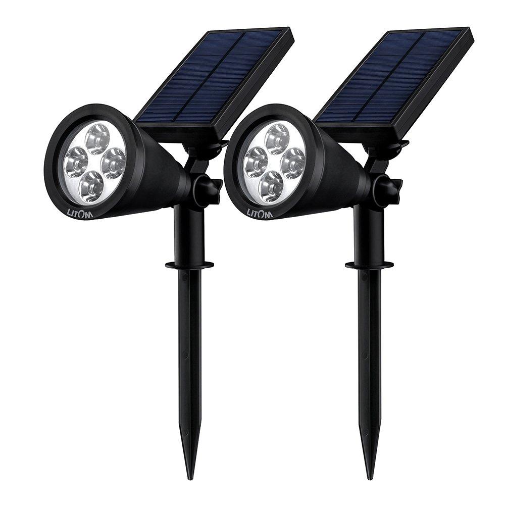 Litom lsl1d solar spotlights adjustable 4 led outdoor landscape litom lsl1d solar spotlights adjustable 4 led outdoor landscape solar lights mozeypictures Image collections