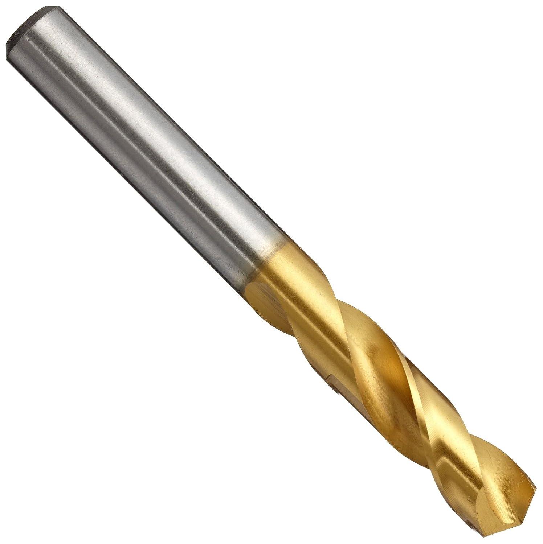 3.3mm Diameter x 49mm Length Slow Spiral Straight Shank YG-1 D4107 High Speed Steel Stub Screw Machine Drill Bit 135 Degree TiN Finish Pack of 5