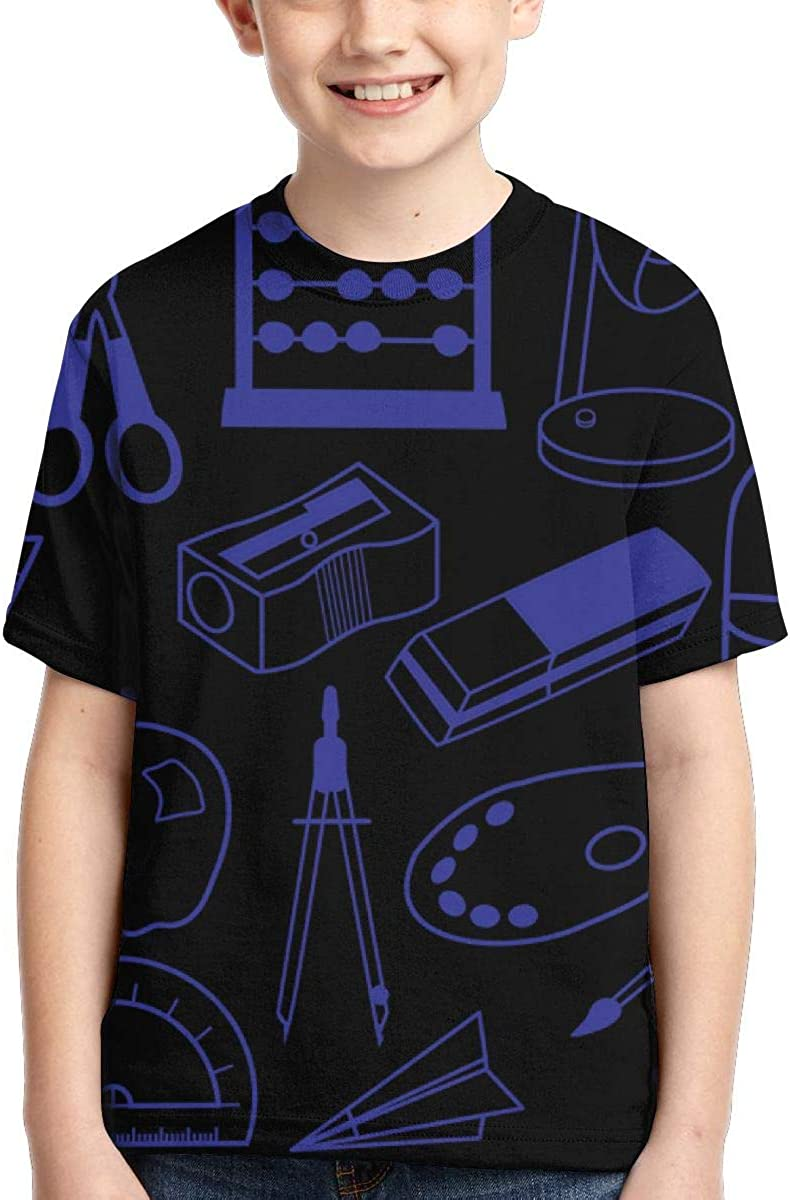 LIXDNOWE School 3D Printed Boys Short Sleeve Tee Shirt Populart-shirt4-15 Years