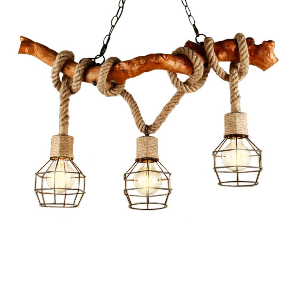 BCYEM Retro Pendelleuchte Industrielle Höhenverstellbar Hängelampe Kronleuchter Nostalgie Hochwertige Design Beleuchtung für Küche Esszimmer Esstisch Bar (ohne Glühbirne) (B)