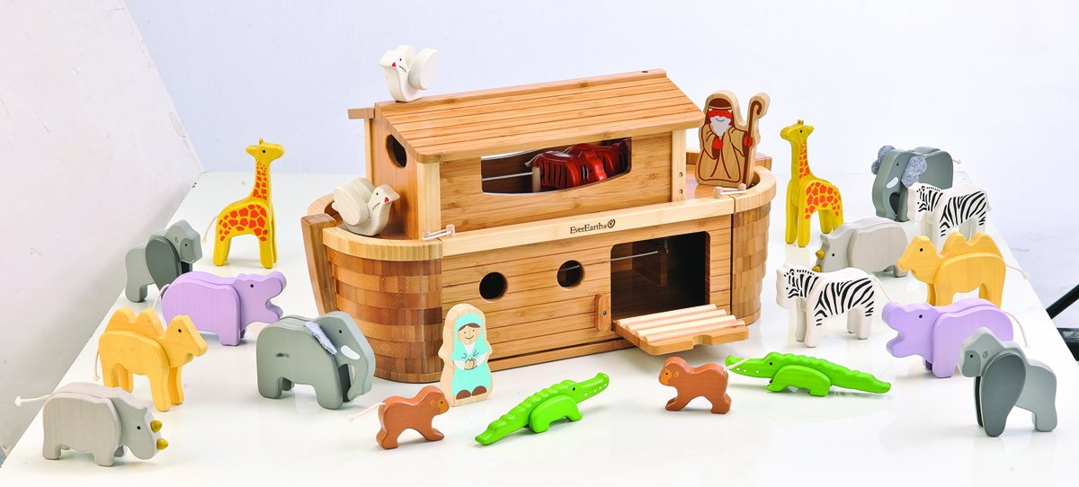 EverEarth Giant Bamboo Noah's Ark with Animals and Figures EE38065 by EverEarth (Image #3)