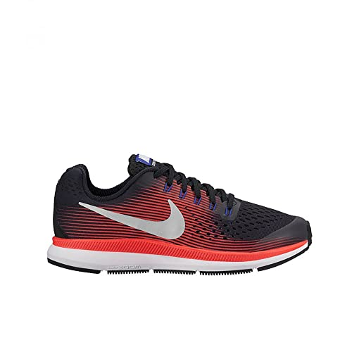 Nike Zoom Pegasus 34 Shield (GS), Zapatillas de Running para Niñas, Gris (Dark Grey/Reflect Silver/Racer Pink), 38 EU: Amazon.es: Zapatos y complementos