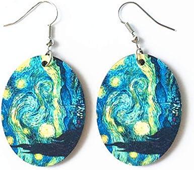 Simple Style Stud Earring Earrings Stud Earrings Big Earrings Resin Earrings Circle Earrings Aesthetic Earrings. Art Painting