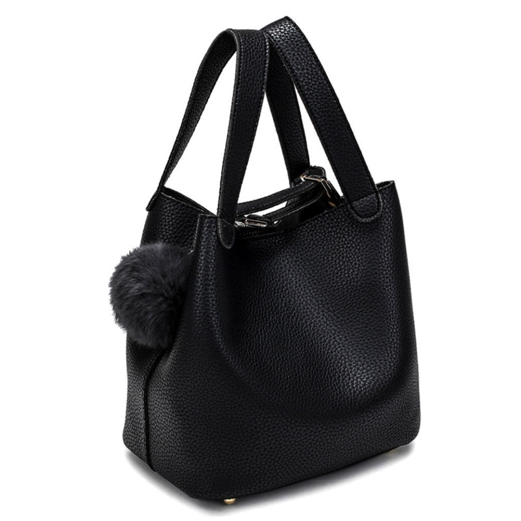 Amazon.com  Hot Sale! Clearance! Women Bag,Todaies Women Bag Hairball Pure  Color Handbags Cansual Bags (231721cm, Black)  Beauty 3240897948