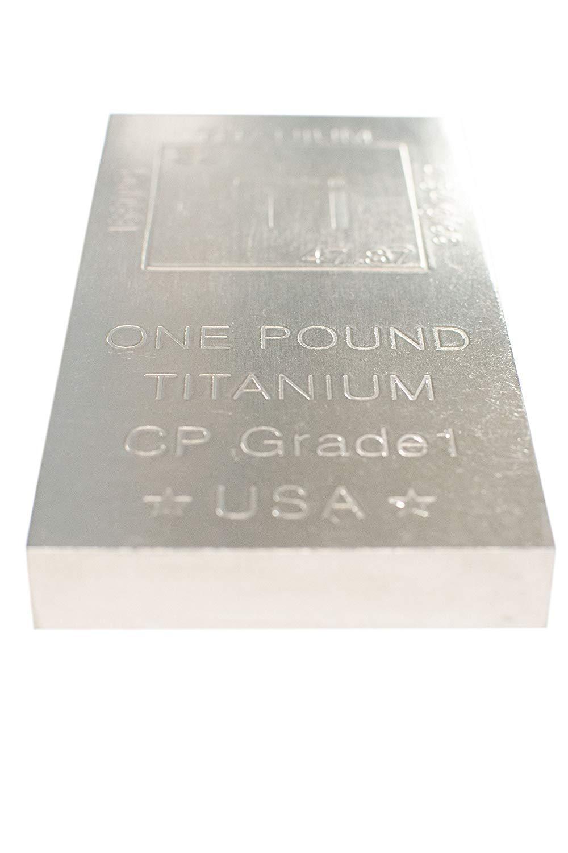 Titanium Bar Paperweight - 1lb Bar 999 Pure Chemistry Element Design by  Metallum Gifts