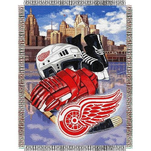 Detroit Red Wings Blanket - The Northwest Company Officially Licensed NHL Detroit Red Wings Homefield Ice Advantage Woven Tapestry Throw Blanket, 48