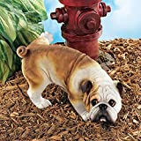 Cheap Design Toscano Dog Gone Bad Peeing Bulldog Statue QL6324