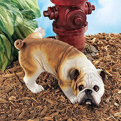 Cheap Design Toscano Dog Gone Bad Peeing Bulldog Statue QL6324