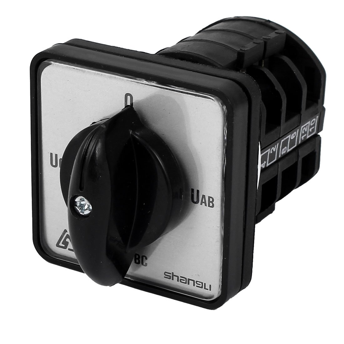 uxcell AC660V 10A 4 Position 2Pole Universal Rotary Cam Changeover Switch