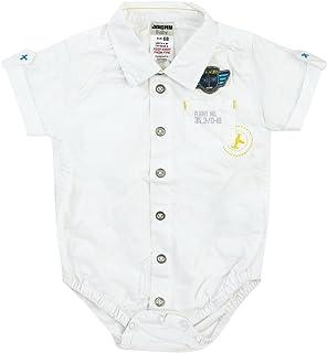 Jacky Kids Pilot Chemise Body Tuta Maniche Corte, Bianco, Taglia 62–92