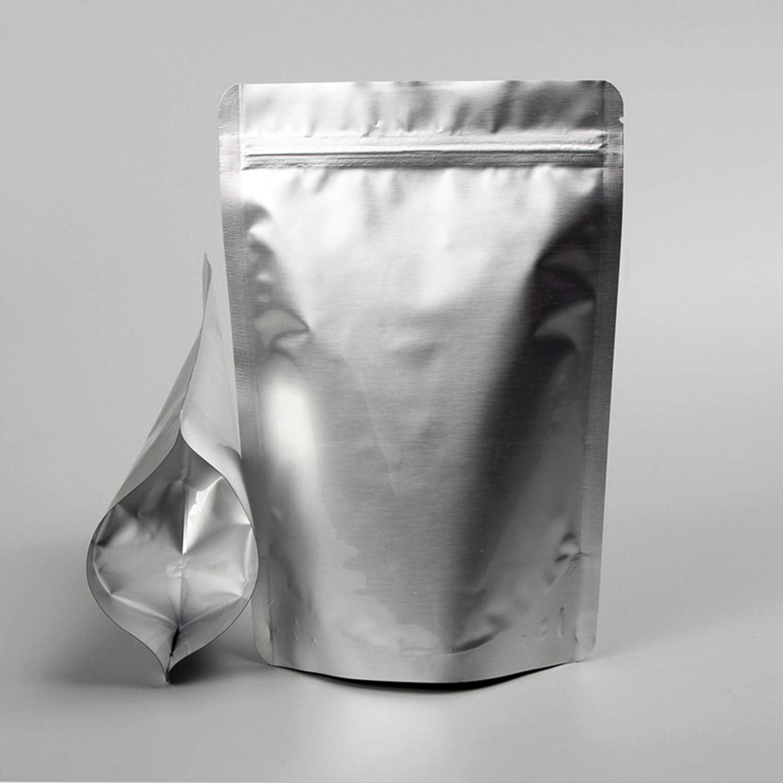 Tuokay 20 Piezas Bolsa de Papel de Aluminio con Cierre Zip Bolsa de Embalaje Apto para Guardar o Llevar Fruta, Dulces, Galleta y Sándwichera