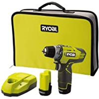 Ryobi 5133001802 2-gäng batteri-kompakt skruv typ R12DD-LL13S, 12 V, svart, gul