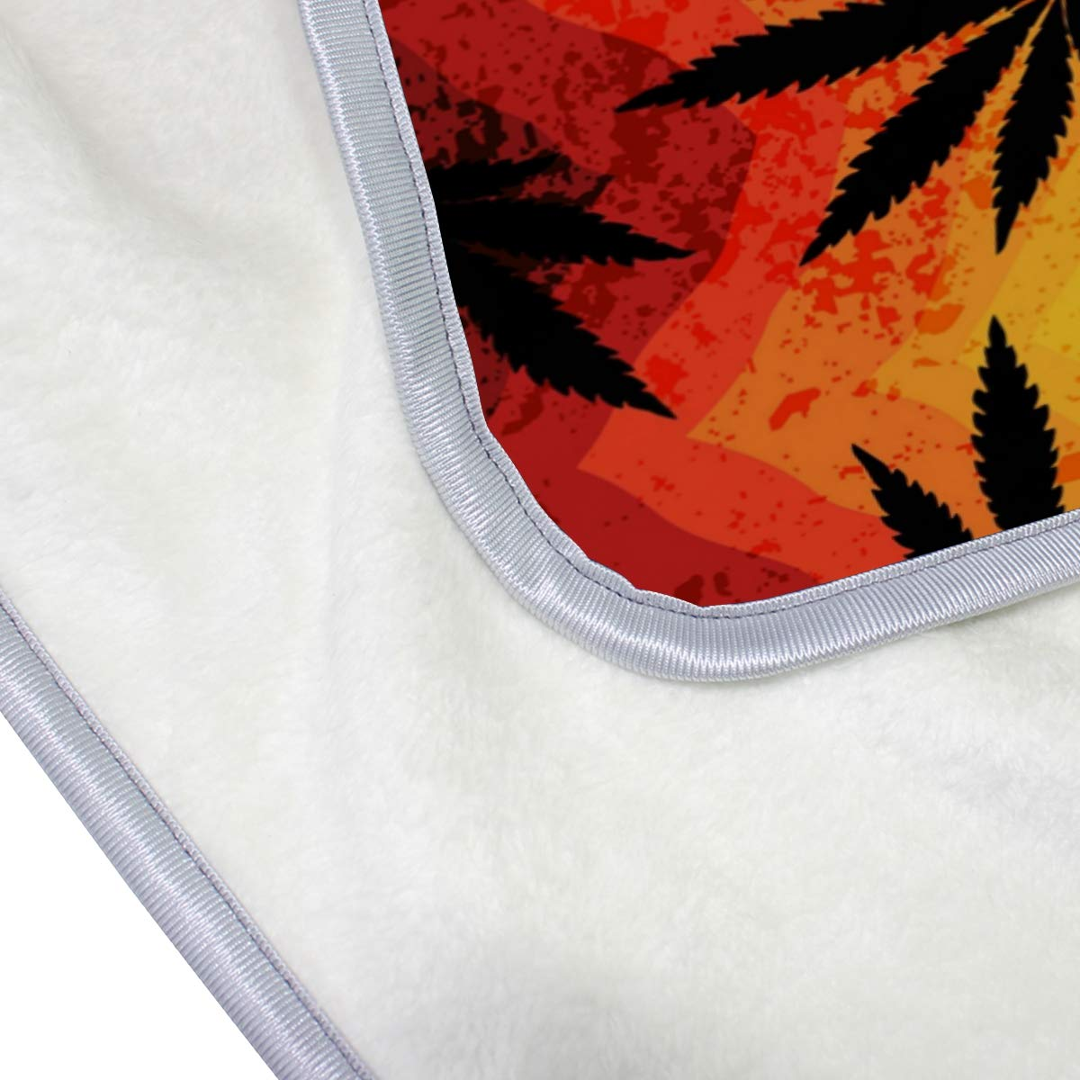 Amazon.com: MOFEIYUE Colorful Chevron Marijuana Leaves Throw ...
