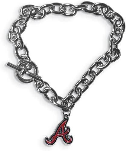 MLB Atlanta Braves ATLANTA BRAVES AMPED LOGO CRYSTAL EARRINGS Size One Size