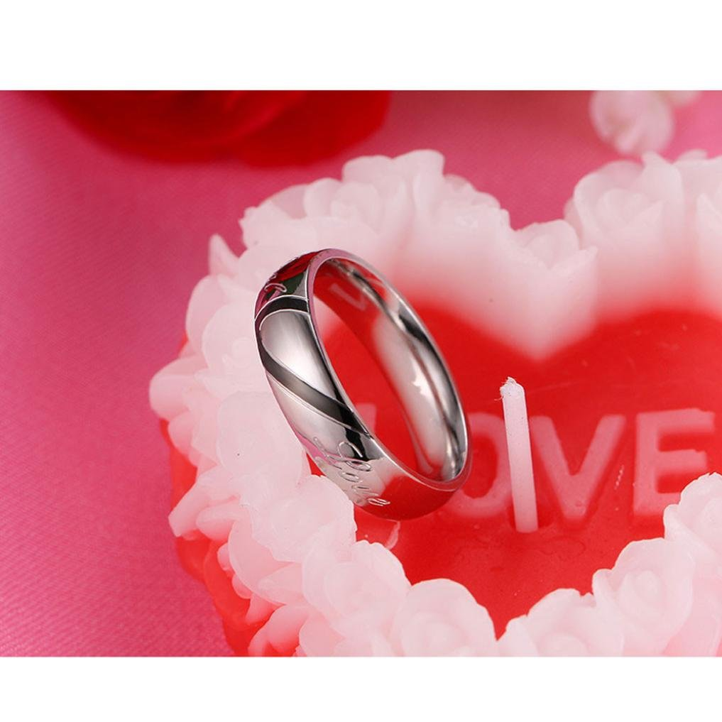 Amazon.com: Lovers Rings,Hemlock Women Men Wedding Rings Valentine\'s ...