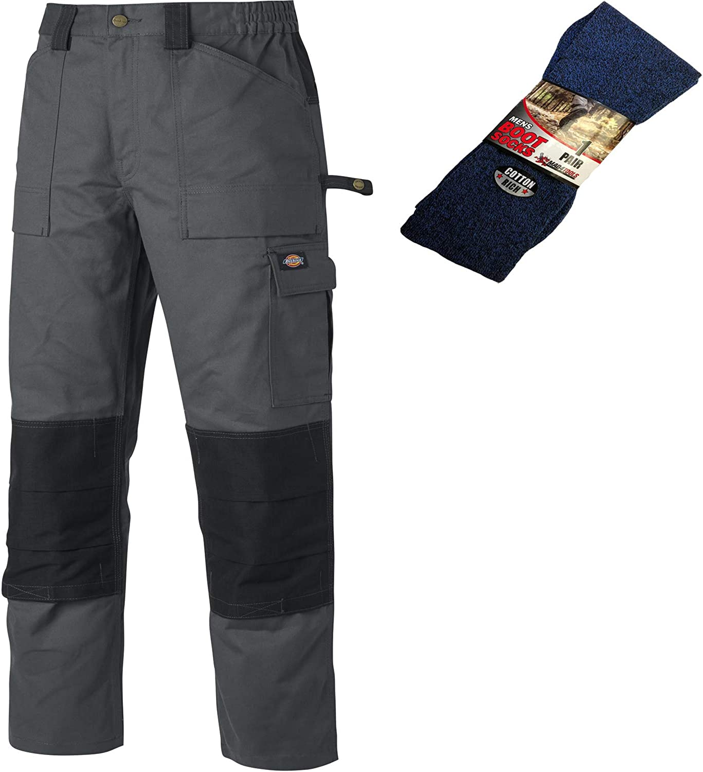 Dickies Grafter TWIN PACK Duo Tone Cotton Trousers Olive Green Various Sizes