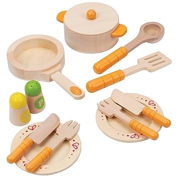 Amazon Com Hape Gourmet Chef Kid S Play Kitchen Food Set And