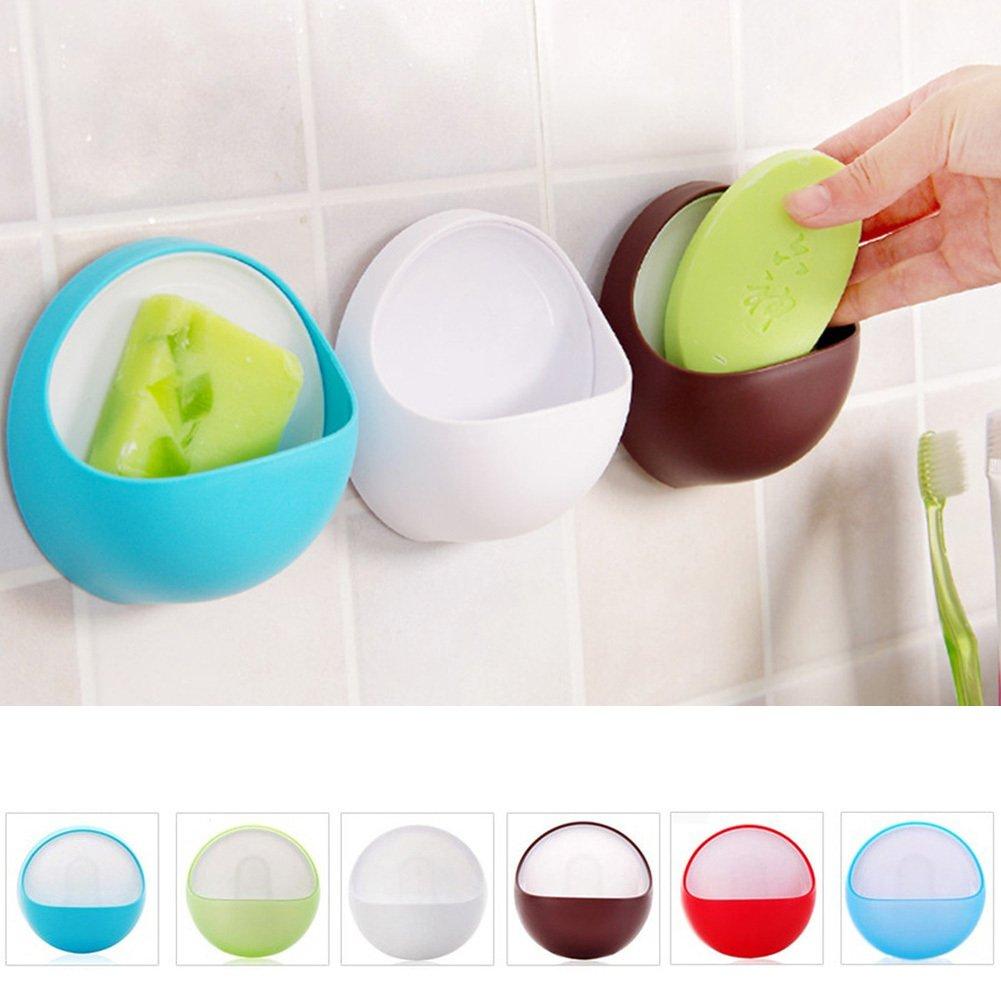 BENHAI 1 pc brief bathroom suction cup soap box soap holder Dishes Soap nozzle hanger brief soap box