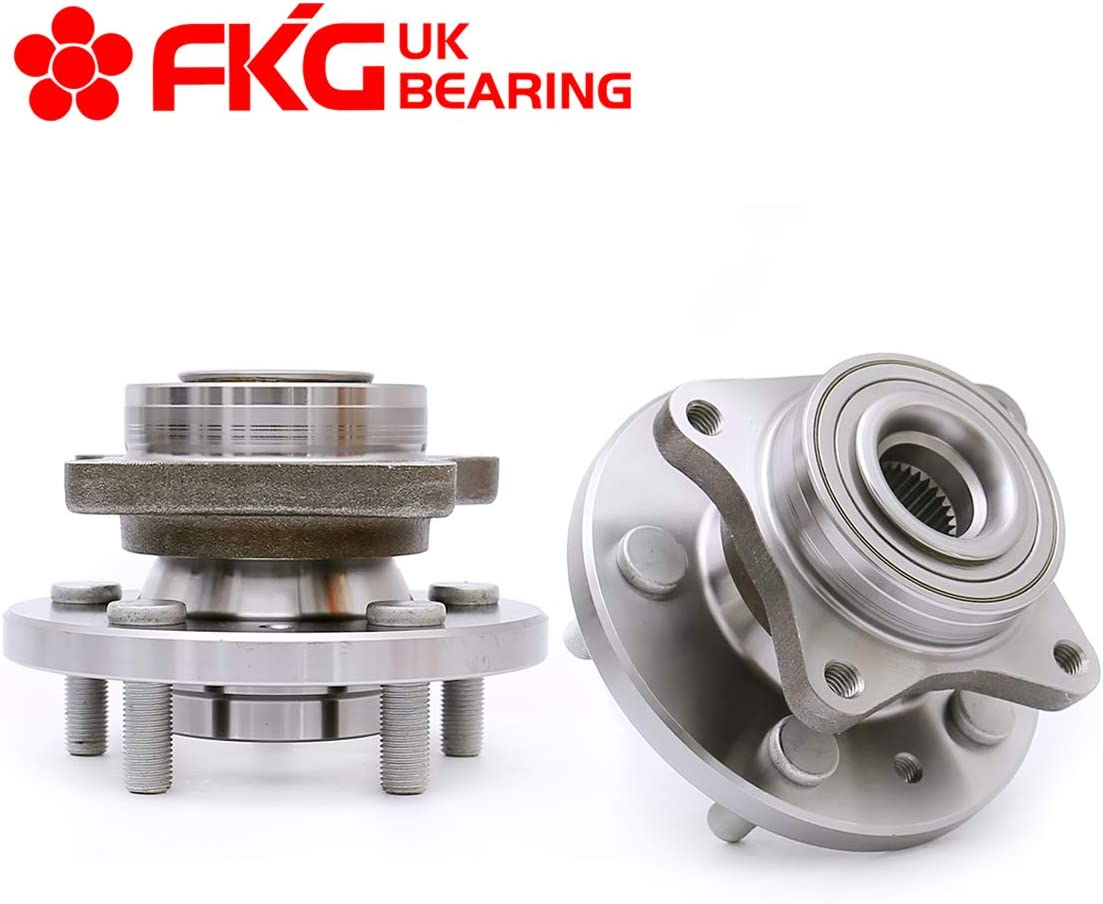 FKG 515067 Front Wheel Bearing Wheel Hub Assembly fit for 2005-2009 Land Rover LR3, 2010-2016 Land Rover LR4, 2006-2013 Land Rover Range Rover Sport, 5 Lugs Set of 2