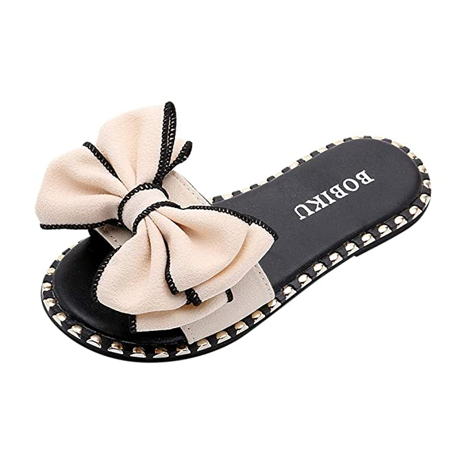 489496c81a71 Moonker Girls Kids Fashion Summer Flat Slippers Casual Shoes 4-12 Years Old  Children Candy