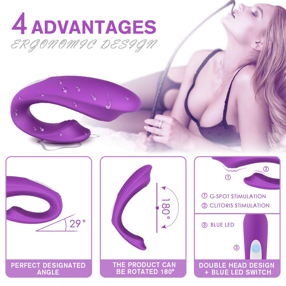 G Spot Vibrator with Clitoris Stimulator Paar-Vibrator 2.0 Upgrade Wireless Remote for Couple Sex Fun, Lnabni Rechargeable 9 Vibration Modes Clitoris Orgasm Tool Dual Motor Vaginal Anal Sex Toy