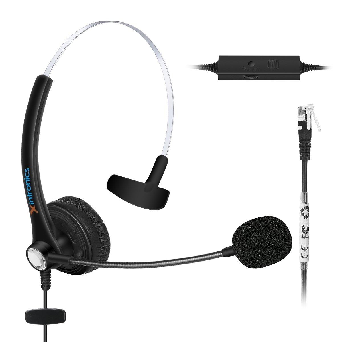 Xintronics RJ9 headset for Nortel Networks Nothern Telecom Meridian PBX Norstar M7208 M7310 M7324 T7208 T7316 M7900 Nec Electra Elite DTU DPT Series E Mitel Siemens Rolm Polycom Toshiba Avaya IP Phone