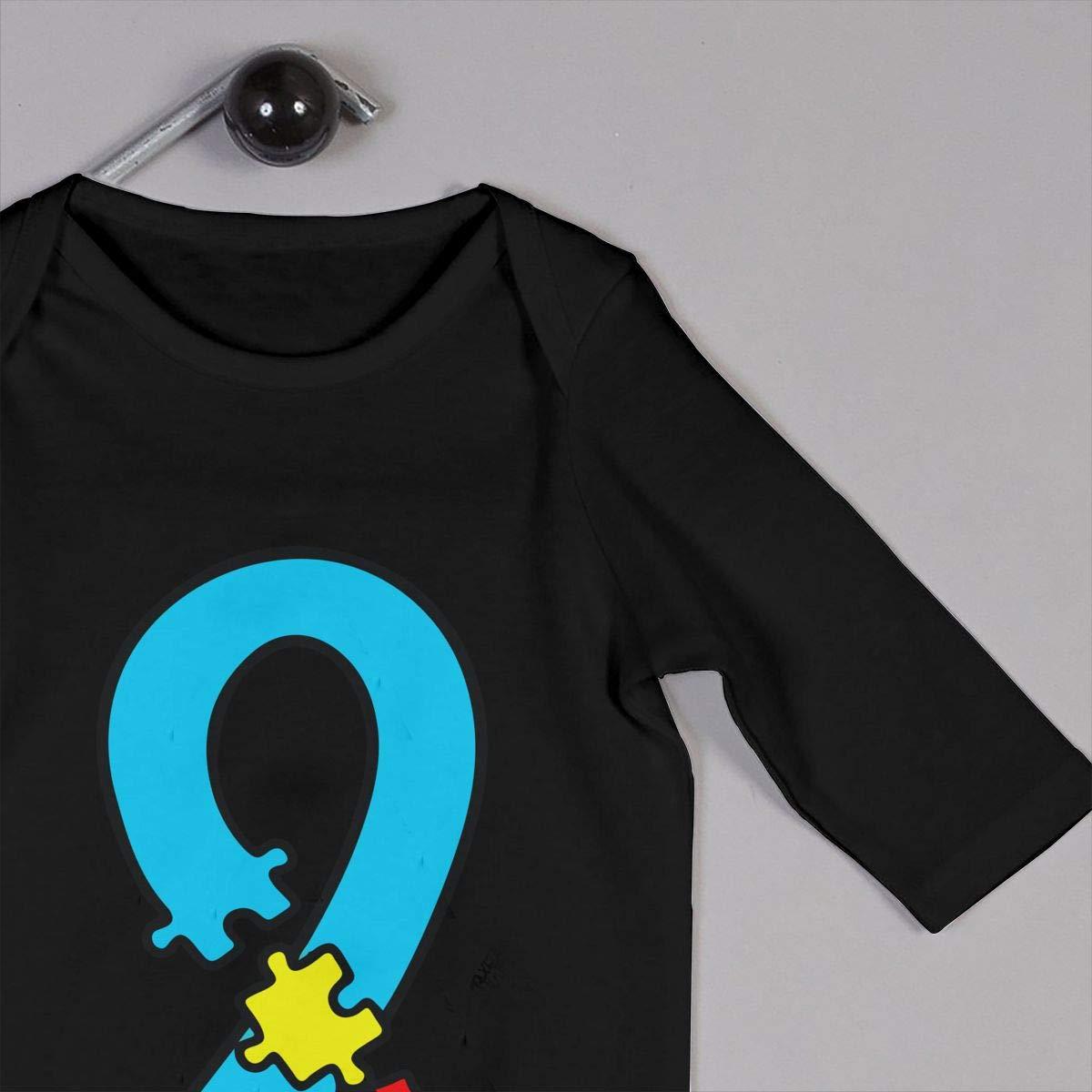 U99oi-9 Long Sleeve Cotton Bodysuit for Unisex Baby Soft Autism Awareness Jumpsuit