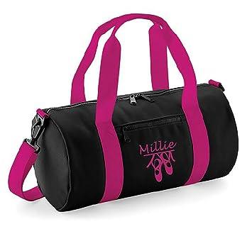 Personalised Dance Ballet Bag (Black Hot Pink)  Amazon.co.uk  Sports ... 11ba46f3782c0
