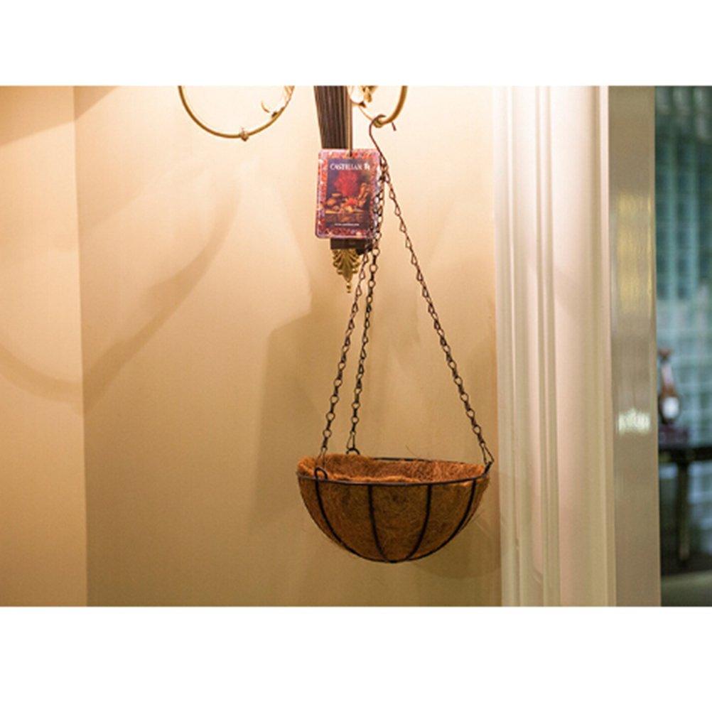OUNONA Cestas colgantes de metal para macetas de acero de coco 20 cm