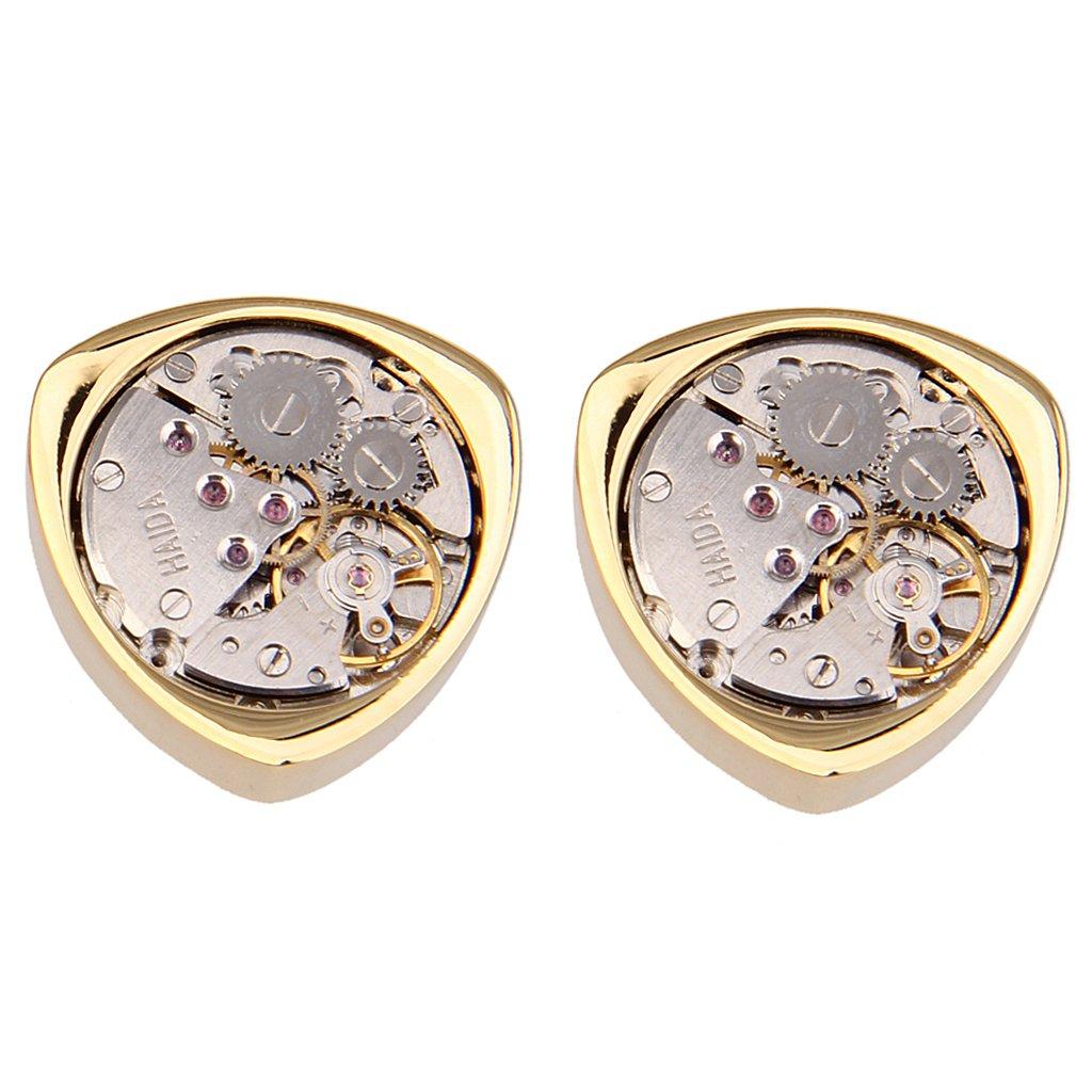 1 Paar Vintage Steampunk Uhrwerk Dreiecks Manschettenknöpfe STK0156003718