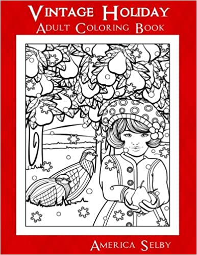 Vintage Holiday: Adult Coloring Book (Holiday Coloring Books ...