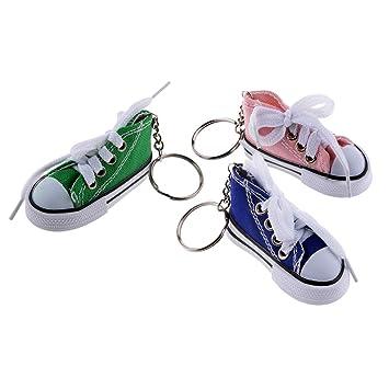 Sharplace 3pcs Juego de Llaveros Zapatillas de Lona Partner ...