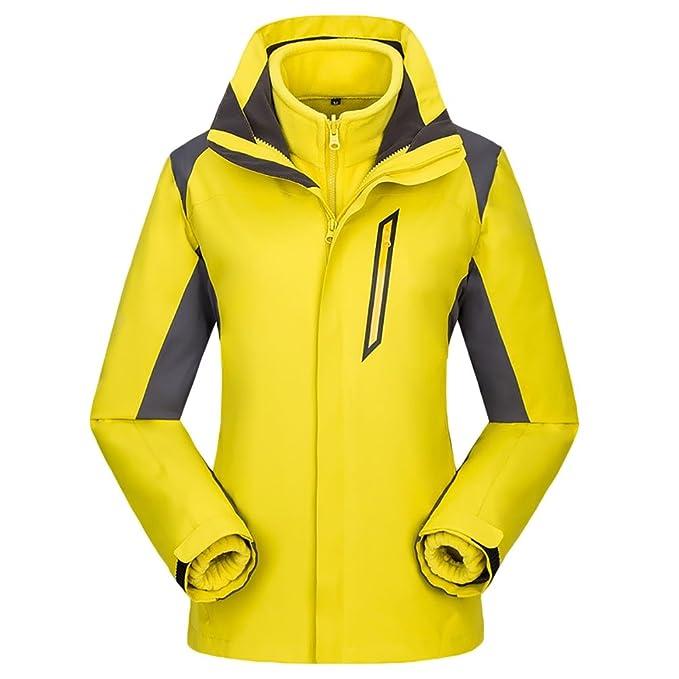 ZKOO Chaqueta con capucha al aire libre para Hombre Mujer 3 en 1 Impermeable Cortaviento Softshell Deportiva Abrigo Cazadoras di Esqui de Nieve: Amazon.es: ...
